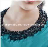 Handmade Peral negro falso Collar Collar Collar Gargantilla bisutería Conjunto de collar imitación pulseras joyas semipreciosas (Pnc-011).