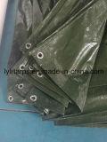 Couverture vert-foncé de bâche de protection de PE