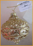 sfera di vetro saltata mano di natale di 8cm