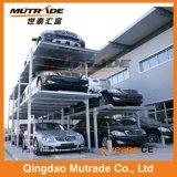 Подъем стоянкы автомобилей автомобиля гидровлического вертикального автоматического столба ямы 4 лифта подземный для пакгауза