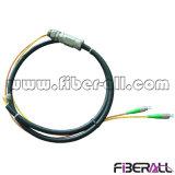 2 coeurs amorce en fibre optique robuste et étanche avec gaine PE