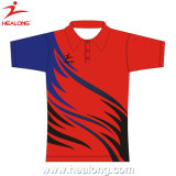 Impression en sublimation de bonne qualité Healong Polo Shirt Jersey