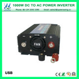 1000W Onde sinusoïdale modifiée avec affichage numérique de convertisseur de puissance (QW-M1000)