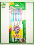 Familien-Zahnbürste der Verpackungs-5-PC