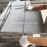 Pietra per lastricati fiammeggiata granito grigio scuro G654 per la strada privata, patio, raggruppamento