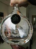 Garrafa de vinho de vidro com polaco