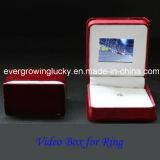 Rectángulo hecho a mano del anillo con la visualización del LCD