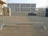 Barrière personnalisée de contrôle de foule en métal, barricades portatives/frontière de sécurité provisoire