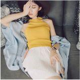 Women Fashion Garment Cotton Respirável Casual Girl Tank Top