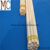 Tubo di ceramica del pezzo fuso di slittamento del tubo refrattario dell'allumina