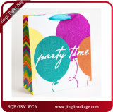 2017 últimos bolsos de empaquetado de la fiesta de cumpleaños del diseño pila de discos las bolsas de papel del regalo