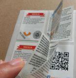 De aangepaste Druk etiketteert Resealable gemakkelijk-Open Multi-Ply van de Bouw van de Etiketten van de Stickers \ Gevouwen van de Sticker Sticker van de \- Brochure