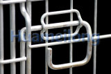 Gabbie d'acciaio pieganti della rete metallica di memoria del metallo di rotolamento con le rotelle