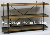 3 Уровень старинной Vintage оформление деревянных и металлических полка для хранения