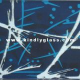 Diep Geëtst Geschilderd Glas/Geëtst, Glas Lauquared/Berijpt Glas