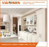 2018 Meubles de cuisine de style Américain solide blanc armoire de cuisine en bois