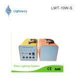 Type chaud ! système de l'alimentation 10W solaire pour l'usage à la maison (batterie au lithium/batterie d'acide de plomb)