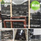지면과 벽 클래딩을%s 까만 화강암 대리석 돌 도와
