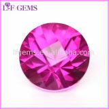 5# Ruby round brilliant cut lâche corindon rouge pierre synthétique