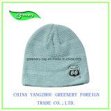 Promoción de la moda invierno tejido bordado Beanie Hat