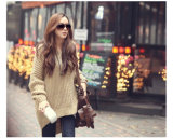 Het Breien Hoodie van de nieuwe Vrouwen van het Ontwerp met de Lange Stijl Hotsales van de Sweater van de Hoed