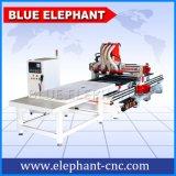 Multi máquina principal do CNC da gravura 1330, madeira 3D que cinzela CNC, máquina da fatura de gabinete do computador