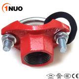 Radio FM/Certificado UL accesorios de tubería de hierro dúctil U-atornillado mecánica T.