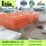 3mm HDPE Plastic Sheet in Orange, Virgin Material
