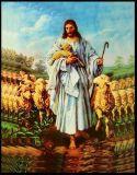 Les plus défuntes peintures à l'huile de Jésus d'éclairage LED de la vente en gros 2017 sur la toile