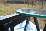 Ronda / Círculo bordes biselados templado encimera / mesa de cristal