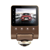 X360 Car DVR Dash Camera 1080P 360 Degree View Angle Dashcam Video Recorder Black Box com WiFi