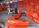 Boons do petróleo alaranjados do flutuador do PVC da cor