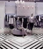 Série preto e branco telha de assoalho Polished vitrificada da porcelana (660009)