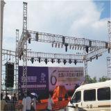 Monte o mostrador exibe LED de iluminação de alumínio treliças Triângulo Global do tejadilho