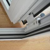 Guichet en aluminium enduit de tissu pour rideaux de profil de poudre blanche de couleur de qualité avec le blocage multi K03007