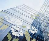 Revestido Impressão Pintado Padrão Tempered Building Laminado Rolado Bolha Padrão Pintura Vidro Frasco Porta Janela Arte Decorativa