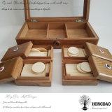 Rectángulo de empaquetado tallado lujo de encargo del regalo de madera de Hongdao para el _E del precio al por mayor de Tarot del póker