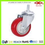 Roulette en PVC à plaque fixe de 75 mm (D120-35E075X30)