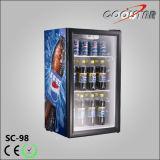 Bildschirmanzeige-Kühlraum-Tischplattenglastür-Schaukasten (SC98)