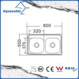Boven de TegenGootsteen van de Keuken van Moduled van het Roestvrij staal (acs-8050D)