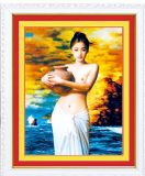 Exportateur d'Art DIY Peinture en croix Diamond Nude Woman Body Oil Painting