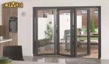 Cayoeの主要な製品の倍の緩和されたガラスのアルミニウム折れ戸