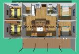 가족 살아있는 조립식 집