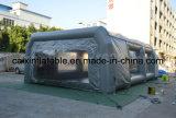 Cabine de pulverizador inflável móvel do carro, cabine inflável da pintura do carro