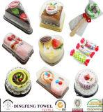 Горячие продажи 100% хлопок рождественские конфеты торт полотенце