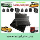 sistema de segurança móvel do CCTV do gravador de vídeo do carro do veículo de 3G 4G HD 1080P DVR com 4 a câmera larga do ângulo HD com seguimento do GPS