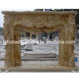 실내 & 옥외 장식적인 백색 대리석 벽난로, 자연적인 돌 벽난로 벽로선반