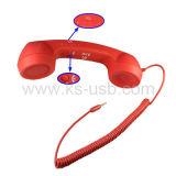 La retro ricevente del telefono delle cellule con prende ed appende in su/funzione controllo del volume per i iPhone 4 & 4S/3G/3GS