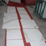 Конструкции плитки Calacatta фарфора мраморный, Polished белая мраморный плитка фарфора