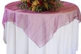 Colores escarpados de la fuente del banquete de boda del cuadrado del paño del recubrimiento del vector del Organza nuevos